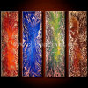4 Panels Pure Handmade Abstract Art Paintings, Oil Painting