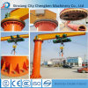1t Lifting Equipment Jib Crane with 360 Degree Arm
