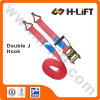 Ratchet Tie Down Straps with Double J Hook