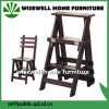 3 Step Folding Wood Ladder Chair