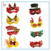 Fast Delivery Christmas Costume Accessory Glasses Santa Half Face Mask