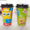 Insulated 16oz Hot Drink Cartoon Paper Cup with Lids