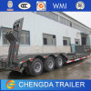 Tri-Axle Lowboy Low Load Lowbed Semi Trailer with Fuwa Axle