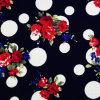 Black Nylon Kimono Printed Lace Fabric