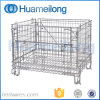 Galvanized Folded Wire Mesh Metal Storage Warehouse Container