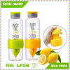 Lemon Detox Plastic Fruit Water Bottle