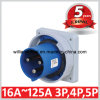 Cee IP67 2p+E 125A Industrial Built-in Power Plug