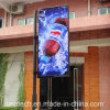 Banner Solar LED Outdoor Lamp Pole Advertising Backlit Film PVC Media Flex Light Box