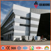 5mm Silver Metallic Wall Cover Cladding Aluminum Composite Panel Material