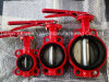 Red Wafer Butterfly Valve for Fire Protection with ISO Certificate