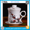 Chinese Style Ceramic Office Tea Cup with Infuser