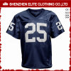 Wholesale High Quality Plain Navy Blue Football Uniforms Jersey (ELTFJI-75)