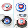 Round Captain America Finger Gyroscope Spinner Fidget Metal Educational Toys