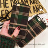 England Grid Fabric Cloth Mobile Cell Phone Case for iPhone