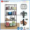Black 5 Tiers Adjustable Metal Wire Office Rack