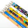 Custom Logo Polyester Exhibition Work Permit Neck Ribbon Strap Lanyard