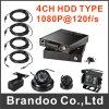4channel 1080P HD Car DVR 3G/4G/GPS DVR for Taxi, Bus, Ship, Train, Tank, Police Car Used