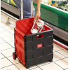 Best Price Easy Open and Folding Plastis Shopping Trolley Cart with Four Wheels