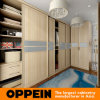 Light Wood Grain Wardrobe with Gray Glass Waist (YG16-M15)