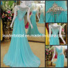 Blue Chiffon Evening Dress Jeweled See Through Back Long Prom Party Dresses Formal Gown E13908