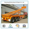 3 Axles Rear Dump Skeleton Semi Trailer for Container Transport
