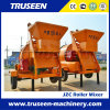 Hand Feed Diesel Concrete Mixer Construction Equipment with Hydraulic Hopper