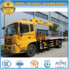 Dongfeng 6 Wheels 8 Tons Wrecker Truck with XCMG Crane Price