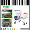 180L Zinc Supermarket Shopping Trolley Cart for Grocery