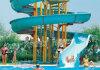Hot DIP Galvanized Steel Support Structure Fiberglass Water Slide