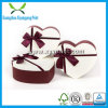 Fancy Heart Shape Paper Cardboard Chocolate Gift Box with Clear Lid