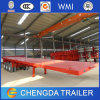 Tri Axle 40FT Flatbed Container Trailer with Extra Oil Tank
