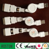 Retractable USB Charger for Mobile Phone Battery