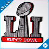 China Factory Custom Fancy Embroidered Badges for Super Bowl