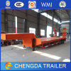 3 Axle 60-120 Tons Lowbed Semi Trailer with Ladder