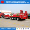 Factory Selliing 4 Axle 60 Tons 100t Low Loader/Lowboy/Lowbed Semi Trailer