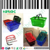 Retail Store Handable Plastic Shopping Basket