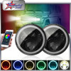 "Angel Eyes RGB Halo 50W 7"" Round LED Headlight for Jeep Wrangler Tj/Fj/Cj Hummer H1 H2"