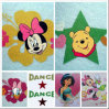 Glitter Heat Transfer Stickers for Kids Clothing