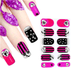 Fashionable 3D Cute Temporary Water Transfer Nail Sticker