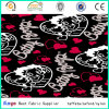 100% Polyester Bags Luggage Heart Printing Fabric with PVC Backing