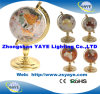 Yaye 18 Gold Plated Zinc Alloy Stand 80mm/110mm/150mm/220mm/330mm World Globe