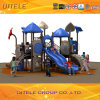 2015 Qitele Children Outdoor Playground Equipment with Plastic Slide (KSII-19401)