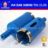 Fast Drilling Center Fixed Hexagon Diamond Tipped Hollow Core Drill Bit for Granite