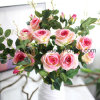 artificial Velvet Wedding Rose Flower for Decoration (SW03333)