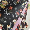 Little Bear Cartoon Pattern PVC Transfer Film Leather for School Bag
