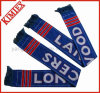 Double Layer Acrylic Jacquard Team Football Scarf