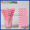 Birthday Party Decoration Pink Princess Striped Paper Straw