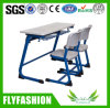 High Quality Popular Double School Desk and Chair (SF-15D)