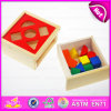 2015 Interesting Non-Toxic Wooden Puzzle Block, Educational Wooden Toy Puzzle Block, Top Sale Kids Wooden Puzzle Block Toy W12D021