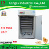 CE Certified High Quality Fully Automatic Chicken Egg Incubator 440 Pieces